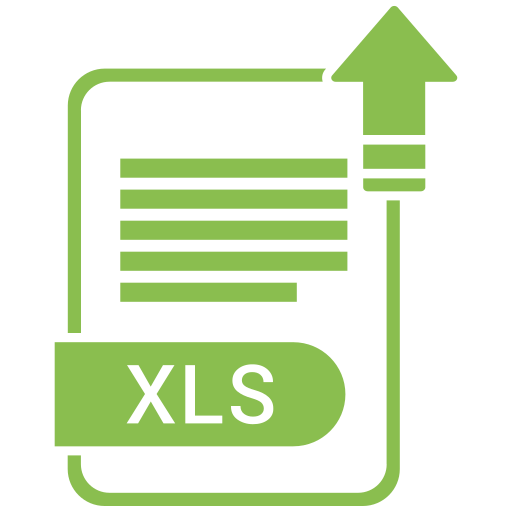 extension, file, format, paper, xls icon