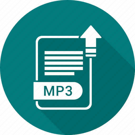 Extension, mp3, file, format icon