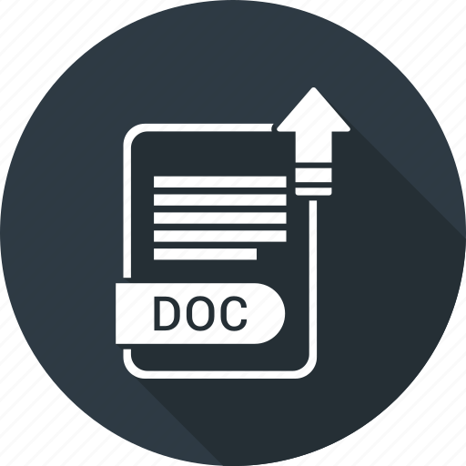 doc, document, extension, file, file format, type icon