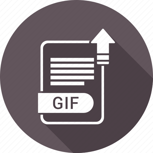 document, extension, file, file format, gif, type icon