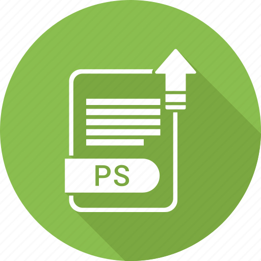 document, extension, file, file format, ps, type icon