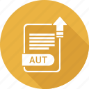 aut, document, extension, file, file format, type icon