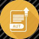 file format, extension, aut, file, document, type