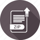 document, extension, file, type, zip icon