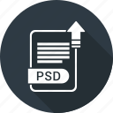 document, extension, file, file format, psd, type icon