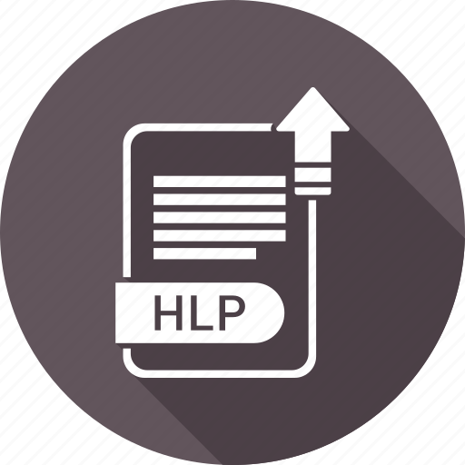 document, extension, file, file format, hlp, type icon