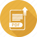 document, extension, file, file format, pdf, type icon