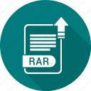 document, extension, file, file format, rar, type icon