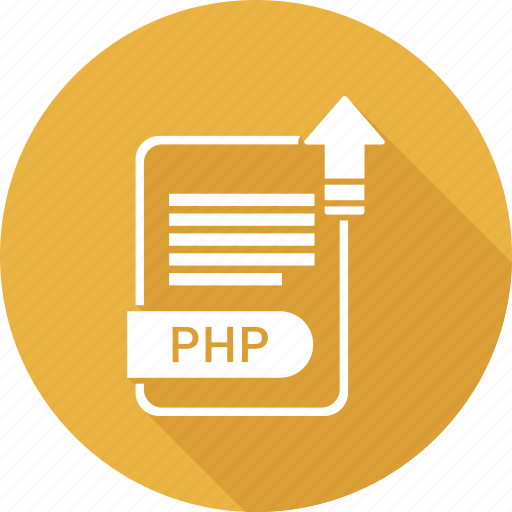 document, extension, file, file format, php, type icon