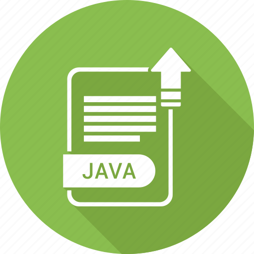 document, extension, file, java, type icon