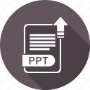 document, file, format, ppt, type icon