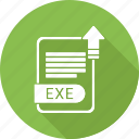 document, exe, file, format, type icon