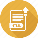document, file, format, html, type icon