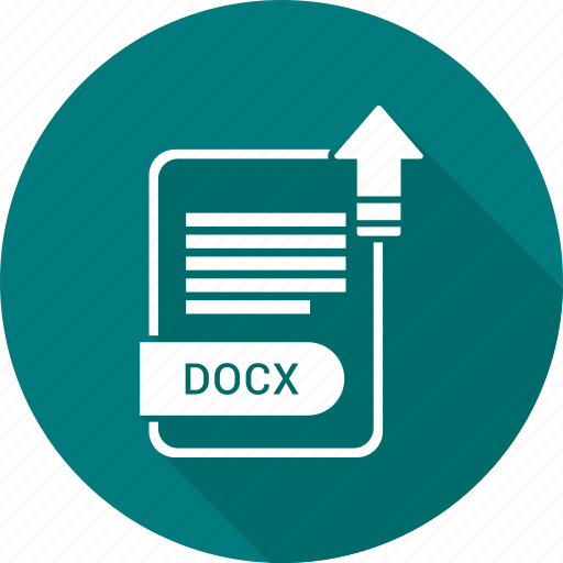 document, docx, extension, file, type icon