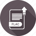 document, extension, file, flac, type icon