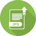 document, extension, file, jpg, type icon