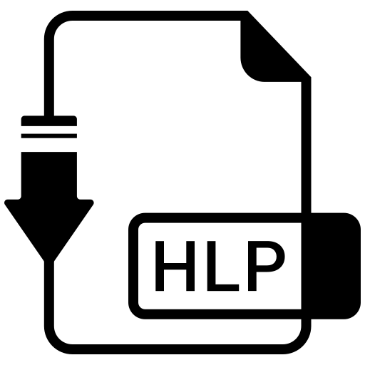 file, format, hlp icon