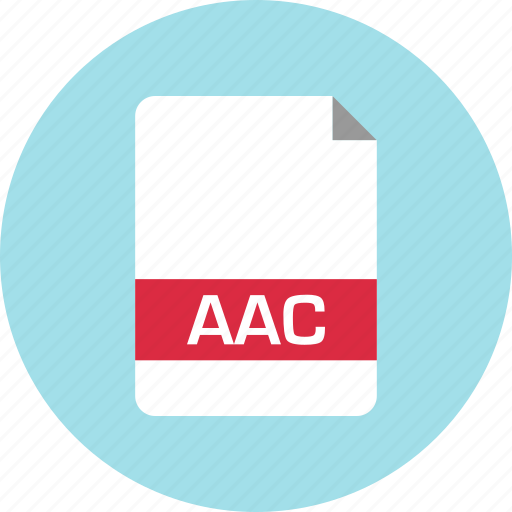 aac, document, extension, file, name, page icon