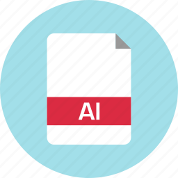 ai file, document, extension, file, name, page icon