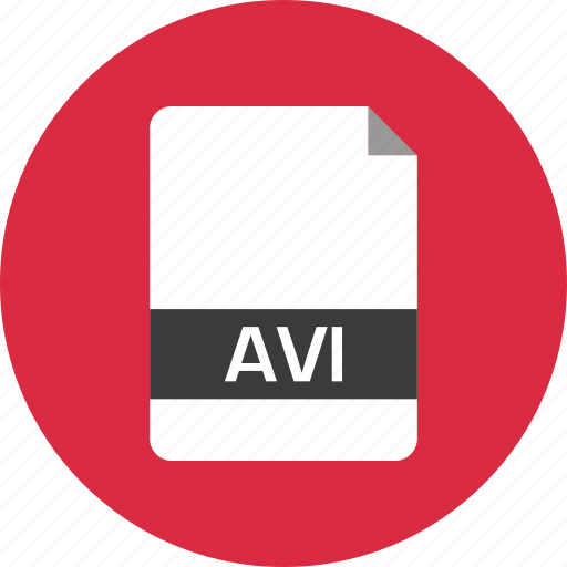 avi, document, extension, file, name, page icon