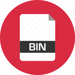 bin, document, extension, file, name, page icon