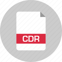 cdr, document, extension, file, name, page icon