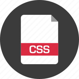 css, document, extension, file, name, page icon