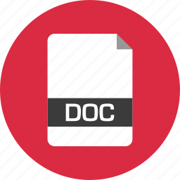 doc, document, extension, file, name, page icon