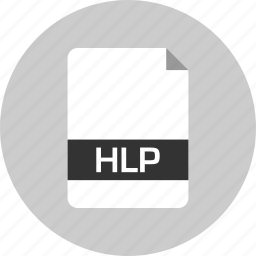 document, extension, file, hlp, name, page icon