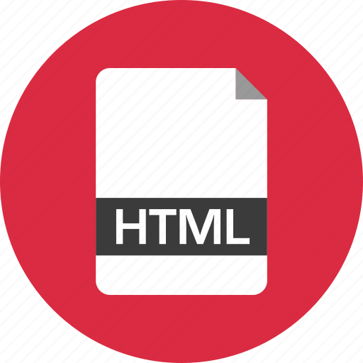 document, extension, file, html, name, page icon
