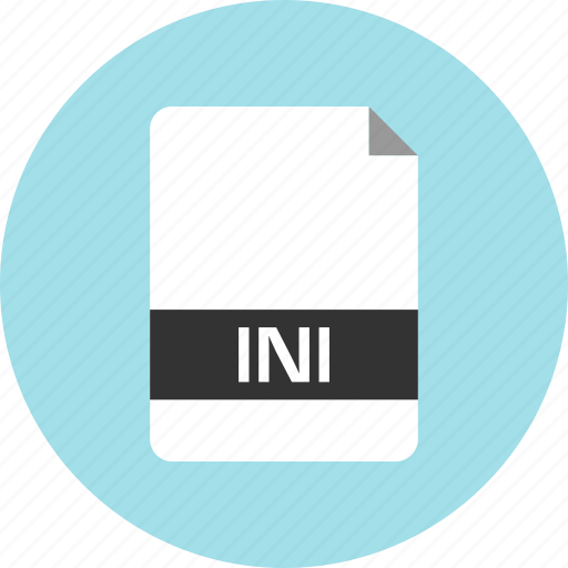 document, extension, file, ini, name, page icon