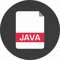 document, extension, file, java, name, page icon