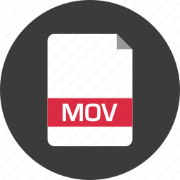document, extension, file, mov, name, page icon