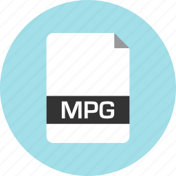 document, extension, file, mpg, name, page icon