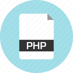 document, extension, file, name, page, php icon