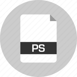 document, extension, file, name, page, ps icon