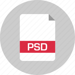 document, extension, file, name, page, psd icon