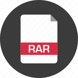 document, extension, file, name, page, rar icon