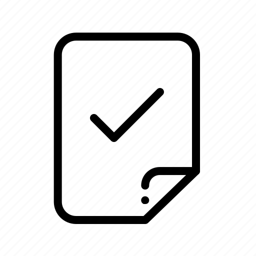 accept, document, file, success icon