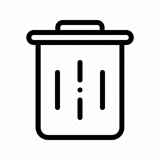 bin, delete, garbage, recycle, remove, rubbish, trash icon