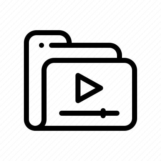 film, folder, media, movie, multimedia, play, video icon