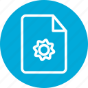 fix, fix file, gear, repair, repair document, repair file icon