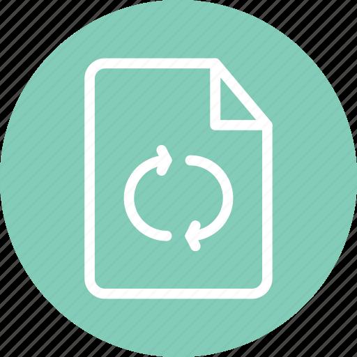 load, loading, reload, reload file, synchronize, synchronize document, synchronize file icon
