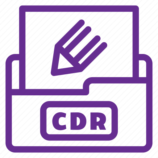 cdr, corel file, extension, file type, filetype, format, vector file icon