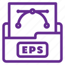 eps, eps file, extension, file type, format, graphic, vector file icon