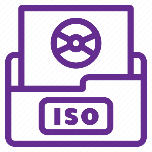 archive, documents, extension, filetype, format, iso, iso file icon