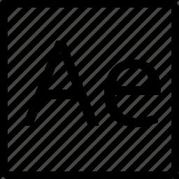 ae, file, square, type icon