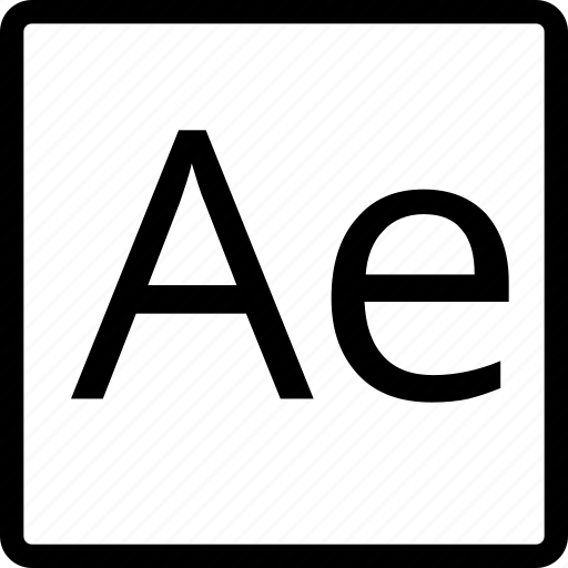 ae, file, square, type icon