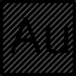 au, file, square, type icon
