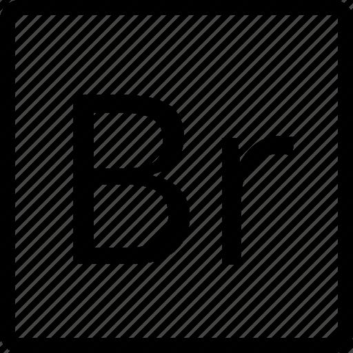 br, file, square, type icon